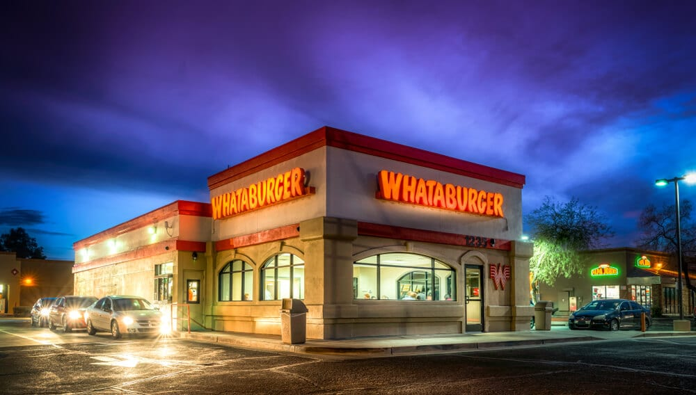 Whataburger location at night